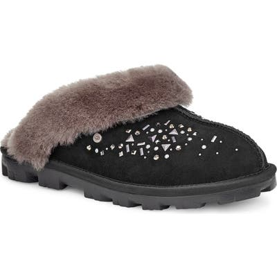 UGG Galaxy Genuine Shearling Slipper, Black