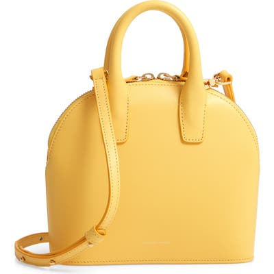 Mansur Gavriel Mini Top Handle Rounded Leather Bag - Yellow