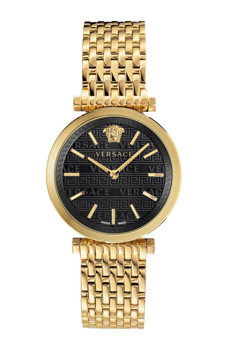 VERSACE V Twist Bracelet Watch, 36mm, Main, color, 710