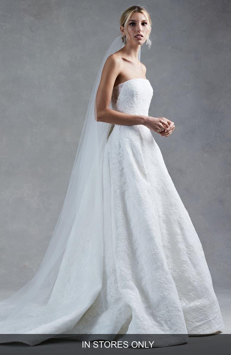 Oscar De La Renta Harper Silk Corded Lace Ballgown Nordstrom