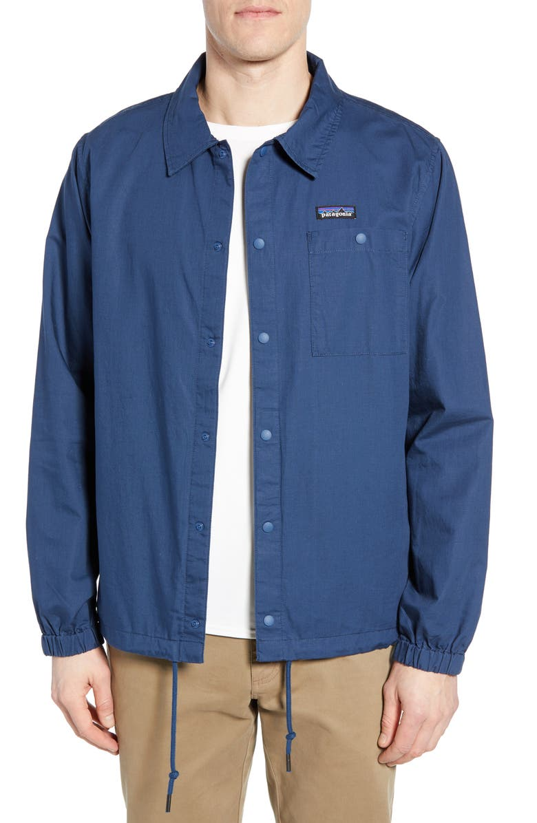 PATAGONIA Lightweight All-Wear Coach's Jacket, Main, color, STONE BLUE