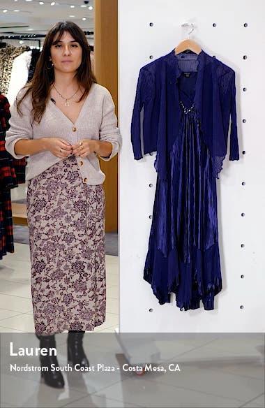 Beaded Neck Charmeuse Midi Dress with Chiffon Jacket, sales video thumbnail