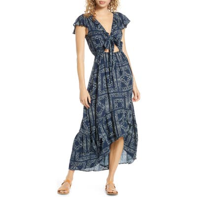 Surf Gypsy Distress Diamond High/low Cover-Up Dress