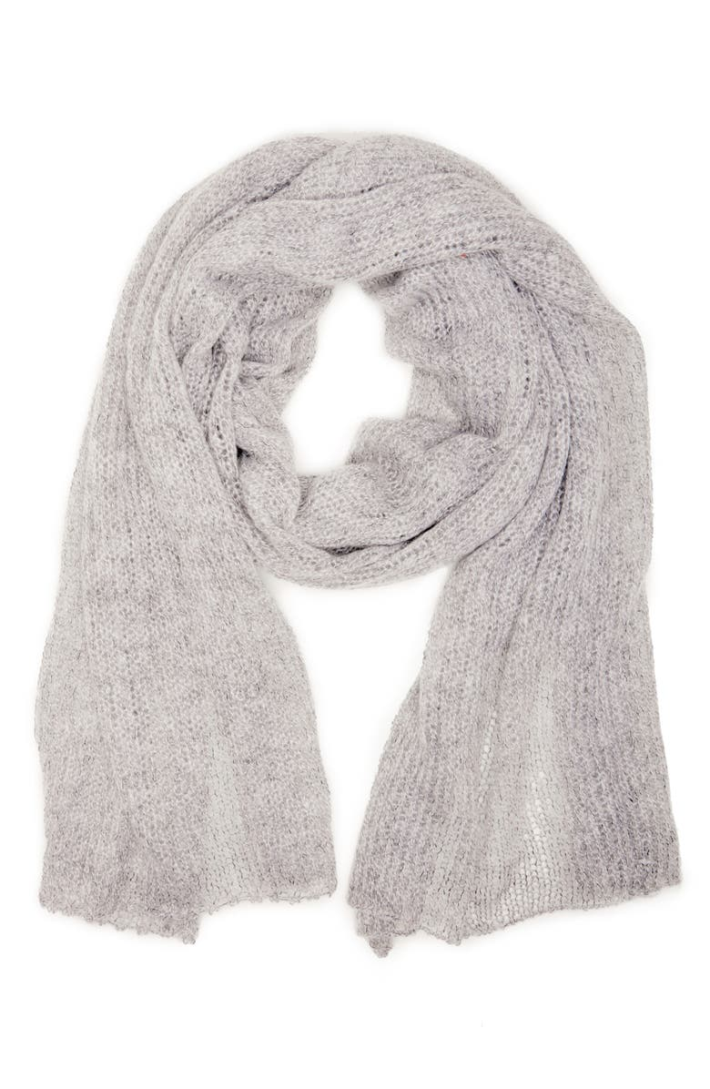 SOLE SOCIETY Knit Scarf, Main, color, 020