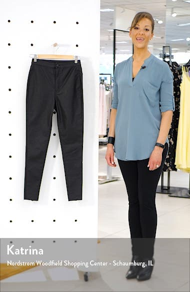 Coated High Waist Skinny Jeans, sales video thumbnail