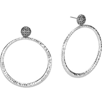 John Hardy Classic Chain Hammered Round Earrings