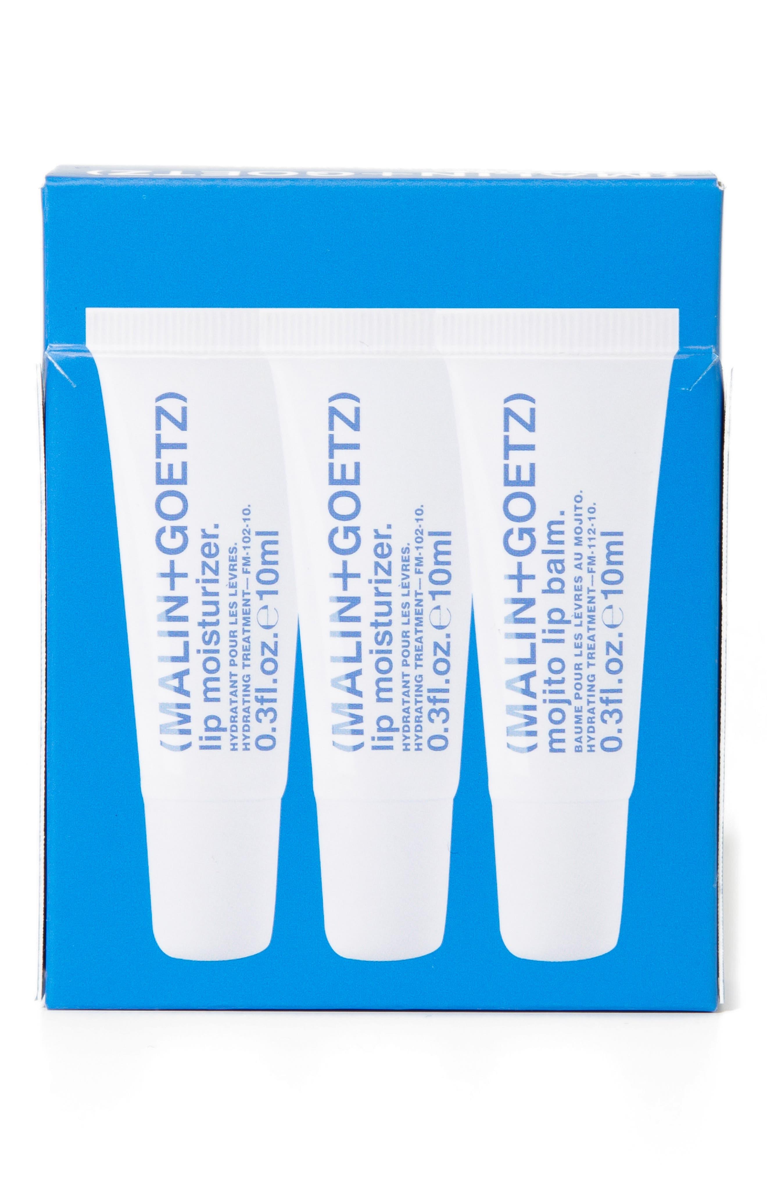Malin+Goetz Lip Service Full Size Lip Moisturizer & Balm Trio-$42 Value