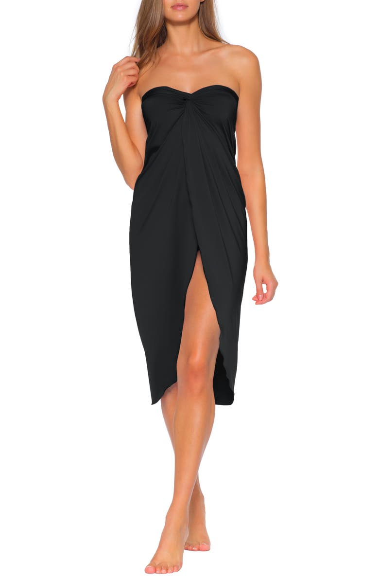 SOLUNA Clear Skies Convertible Cover-Up, Main, color, BLACK