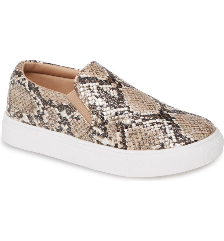 STEVE MADDEN JGills Slip-On Sneaker, Main, color, NAT SNAKE