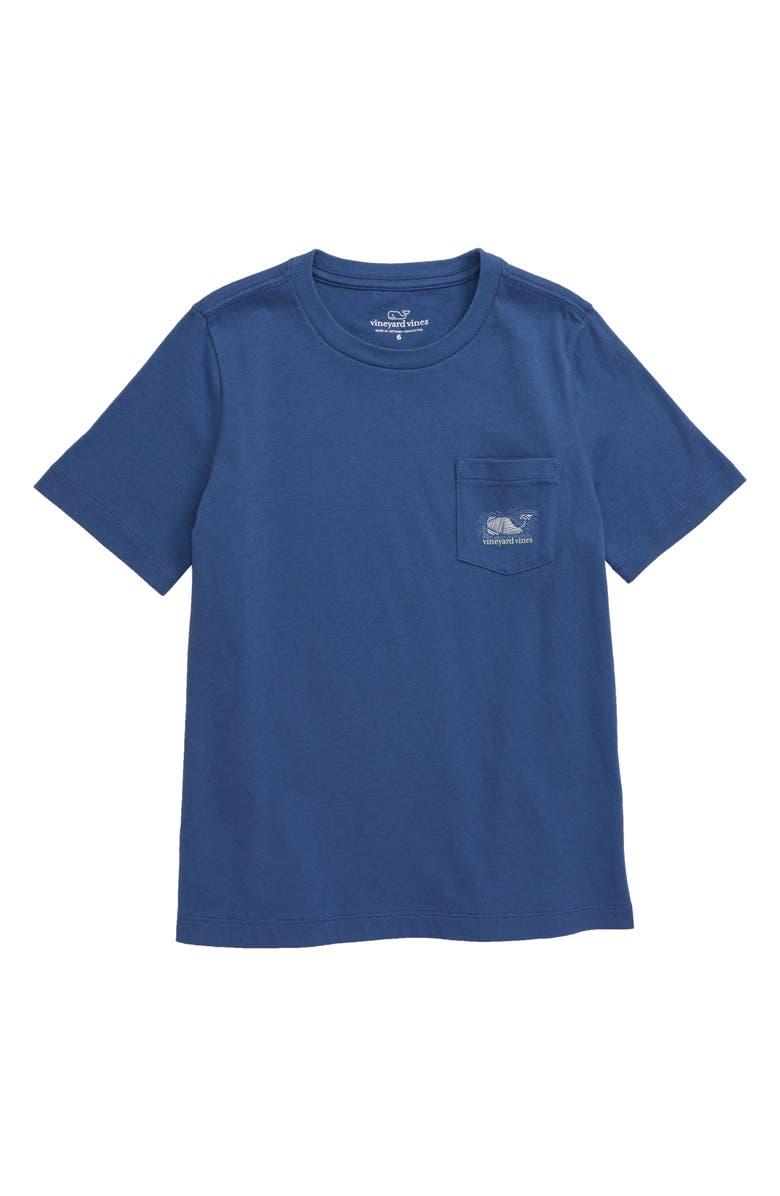 VINEYARD VINES Hatched Bluefish Pocket T-Shirt, Main, color, 461