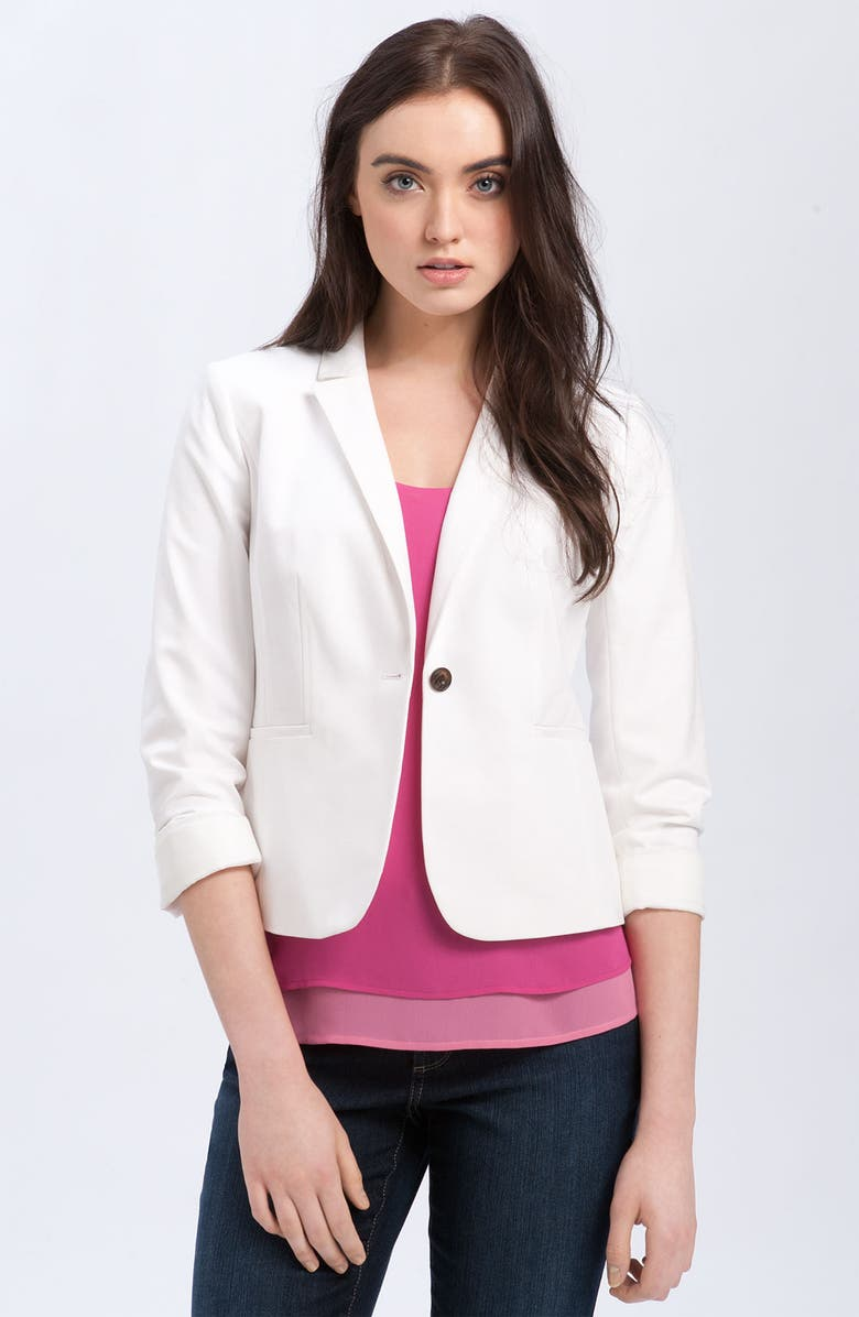 HALOGEN<SUP>®</SUP> Stretch Woven Jacket, Main, color, 100