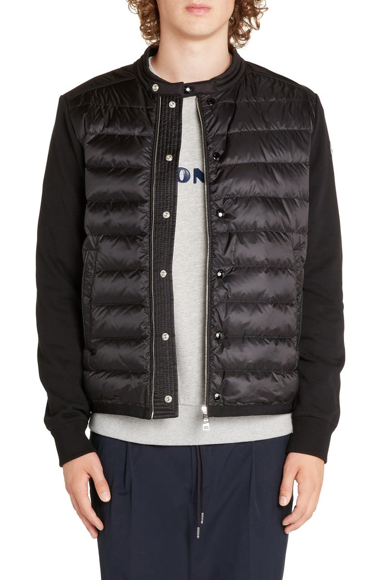 MONCLER Maglia Sweater Jacket, Main, color, BLACK