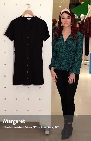 Derion Front Button Minidress, sales video thumbnail