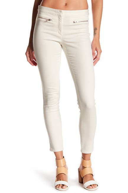 Image of VERONICA BEARD Skinny Zip Denim Trousers