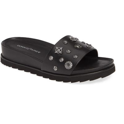 Donald Pliner Cailo Studded Slide Sandal, Black