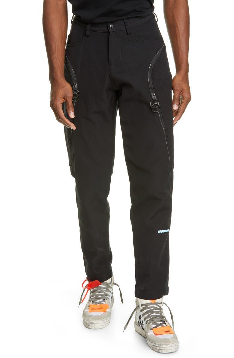 OFF-WHITE Journey Pants, Main, color, BLACK