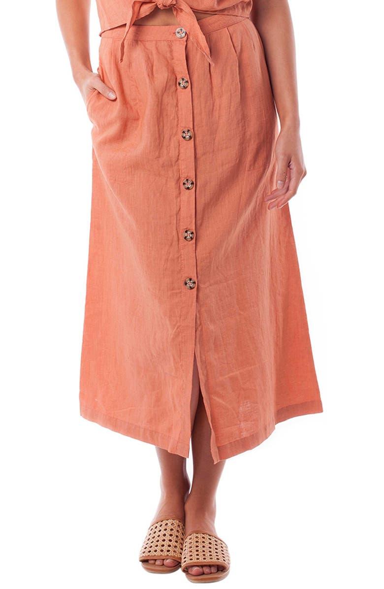 RHYTHM Amalfi Midi Skirt, Main, color, 600