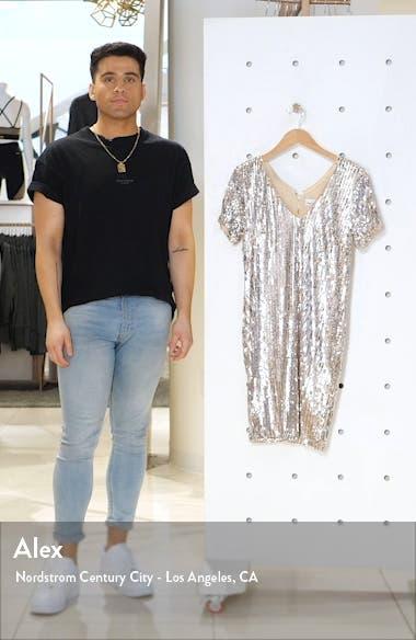 Kaley Sequin Short Sleeve Bodycon Dress, sales video thumbnail