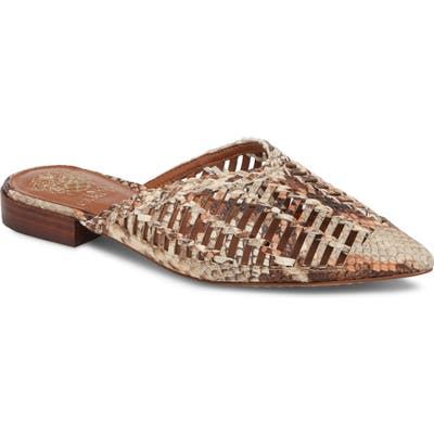Vince Camuto Morley Woven Pointy Toe Mule, Beige