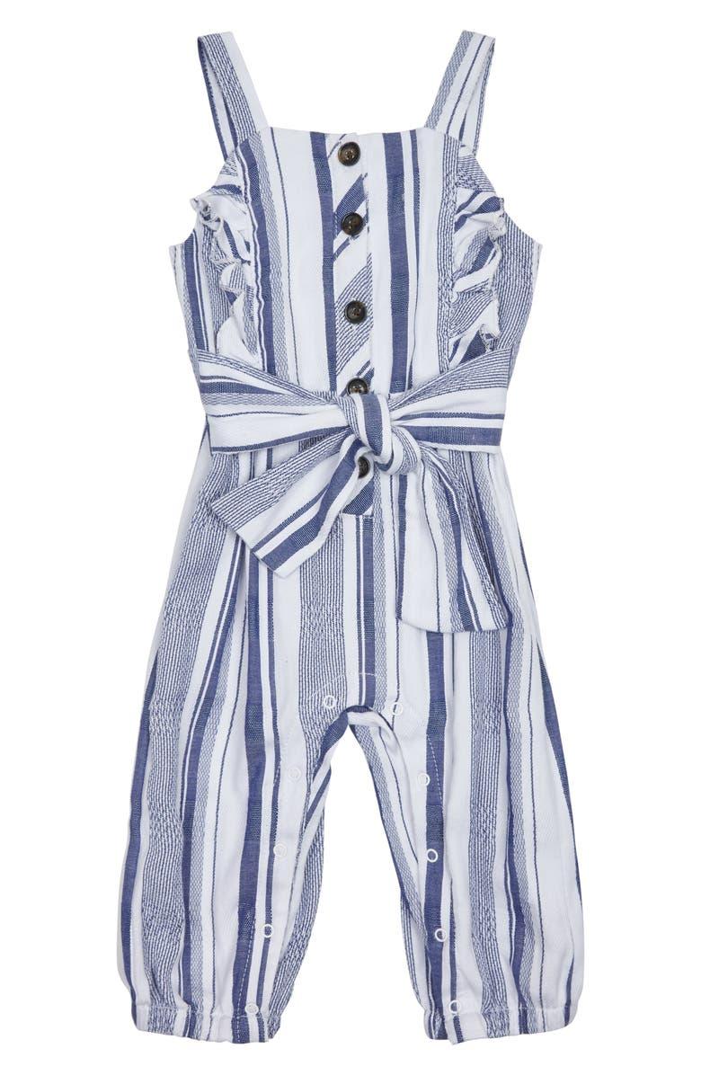 HABITUAL Stripe Jumpsuit, Main, color, INDIGO