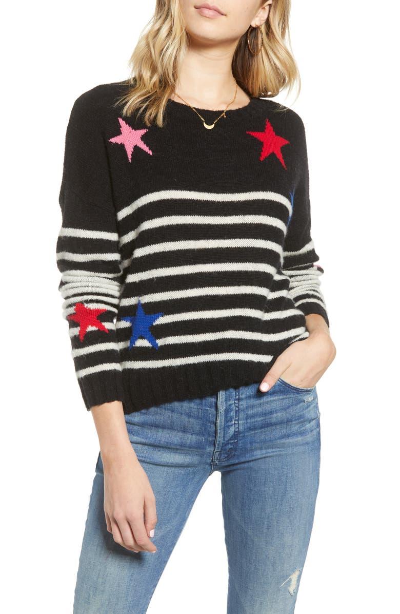 RAILS Perci Sweater, Main, color, BLACK STRIPE MULTI