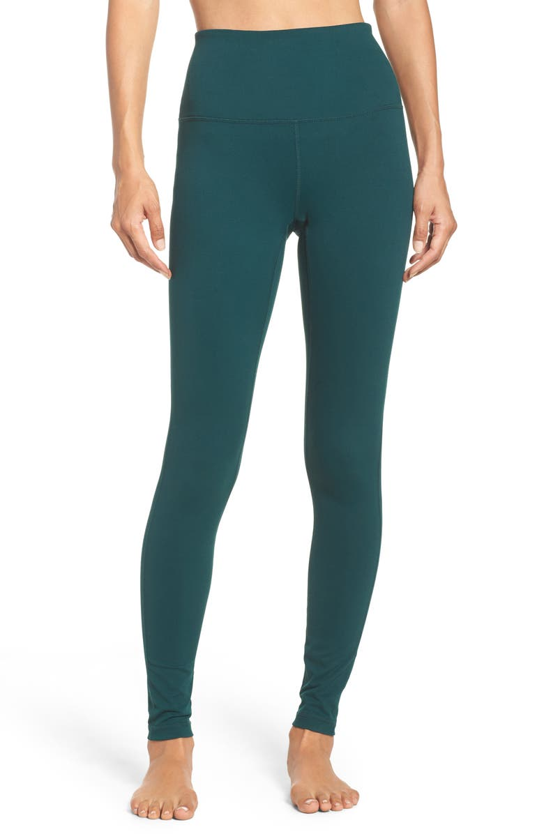 Live In High Waist Leggings, Main, color, GREEN PONDEROSA