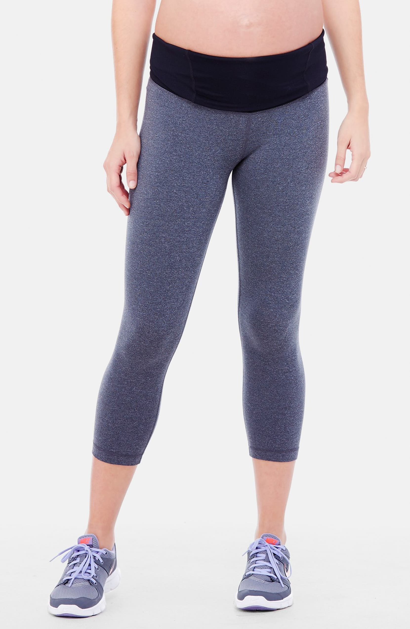 f2eade8c795e40 Ingrid & Isabel® Active Maternity Capri Pants with Crossover Panel |  Nordstrom