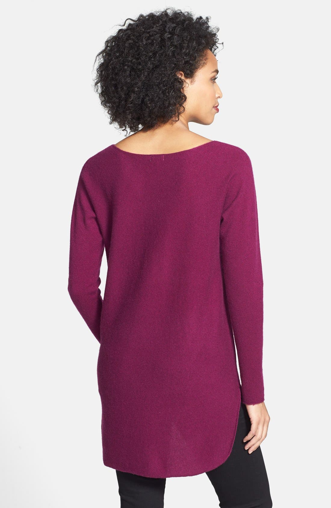 ,                             High/Low Cashmere Tunic Sweater,                             Alternate thumbnail 21, color,                             501