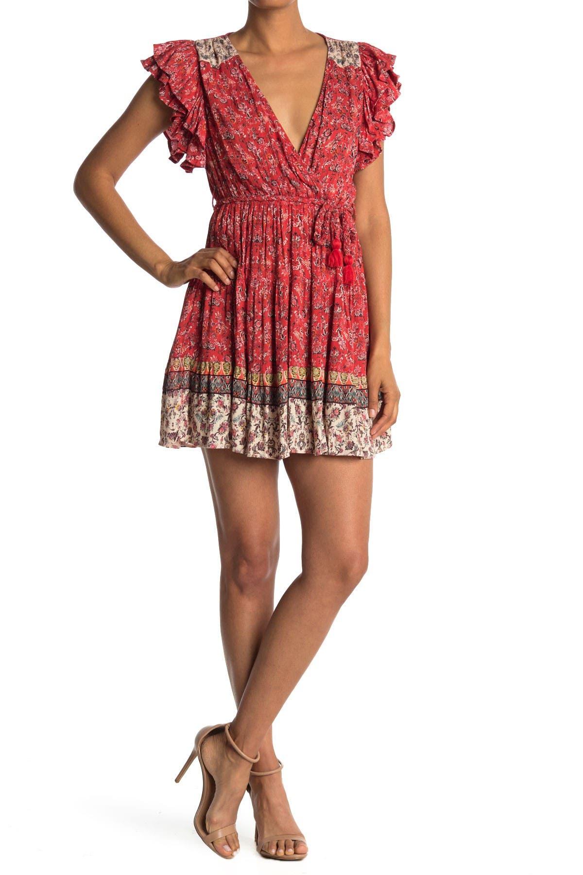 Image of Angie Ruffle Sleeve Tiered Dress