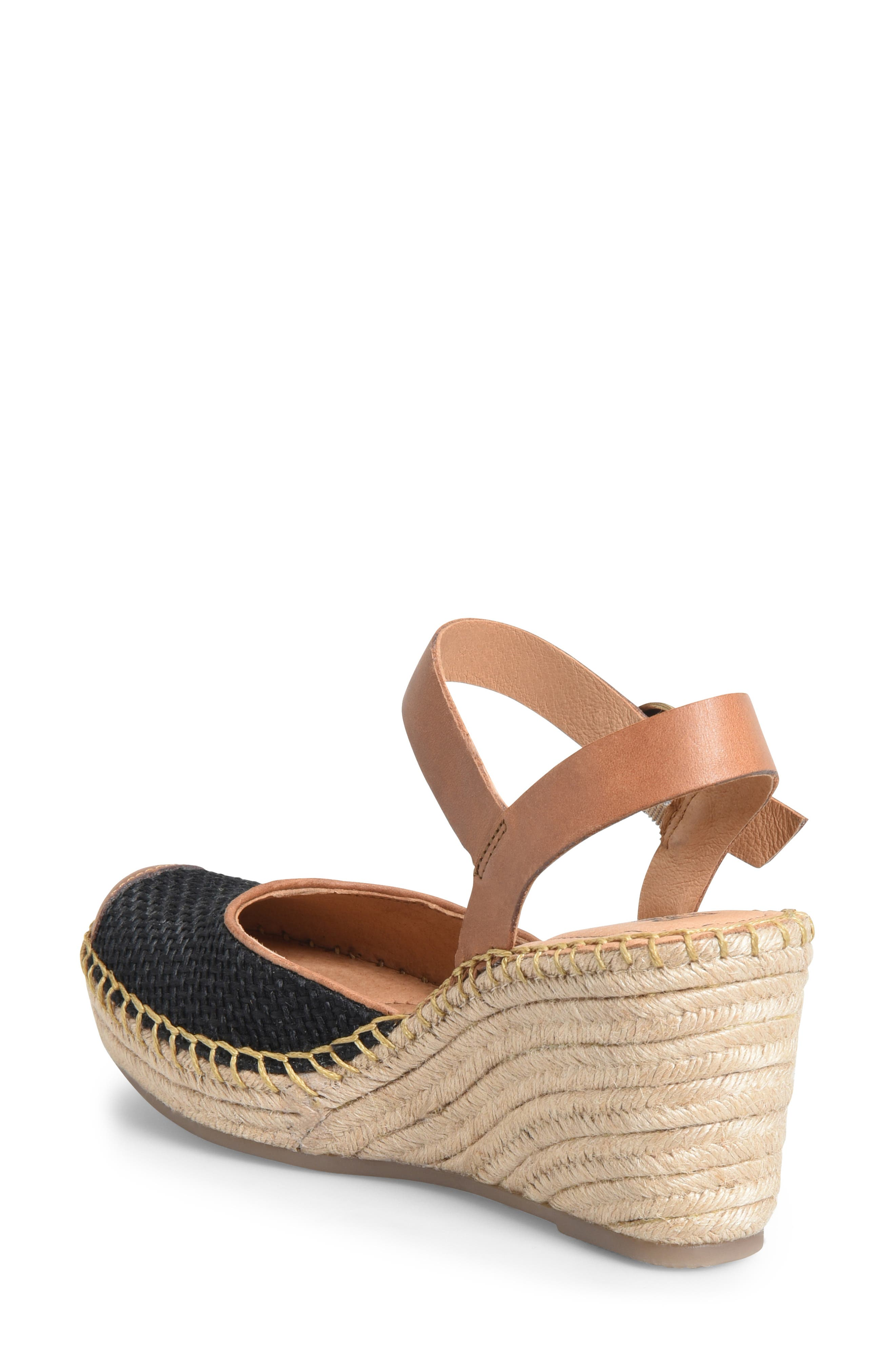 ,                             Guadalupe Wedge Sandal,                             Alternate thumbnail 2, color,                             BLACK/ RUST FABRIC