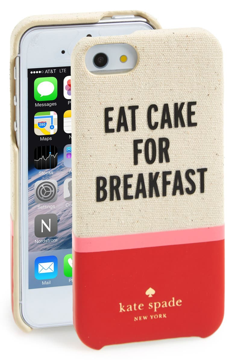 KATE SPADE NEW YORK 'cake for breakfast' cutout iPhone 5 & 5s case, Main, color, 610
