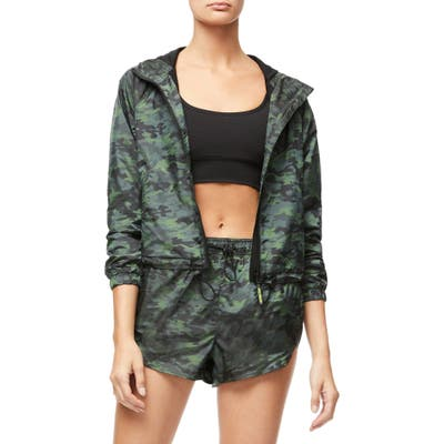 Plus Size Good American Gloss Camo Jacket, (fits like 14-16 US) - Green