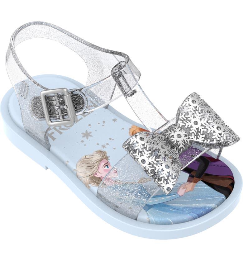 MINI MELISSA x Disney Frozen Mar Glitter Sandal, Main, color, SILVER GLITTER
