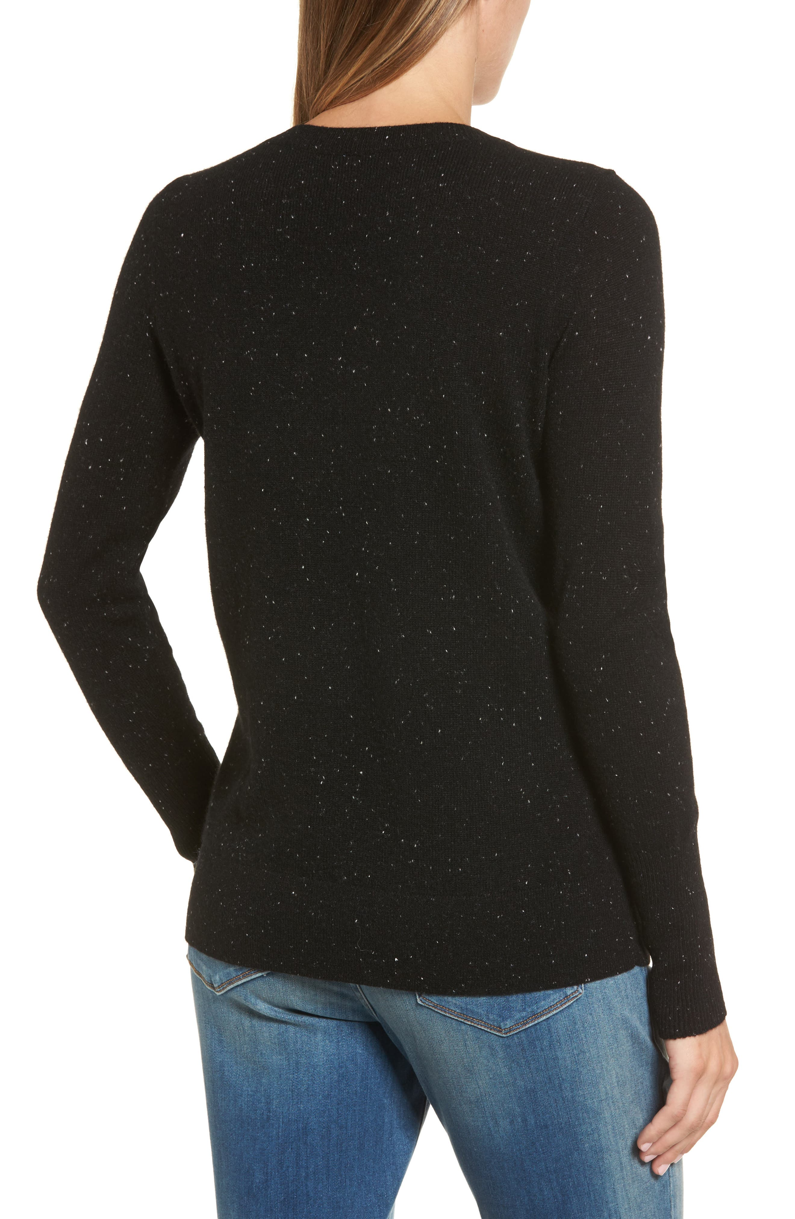 ,                             V-Neck Cashmere Sweater,                             Alternate thumbnail 2, color,                             002