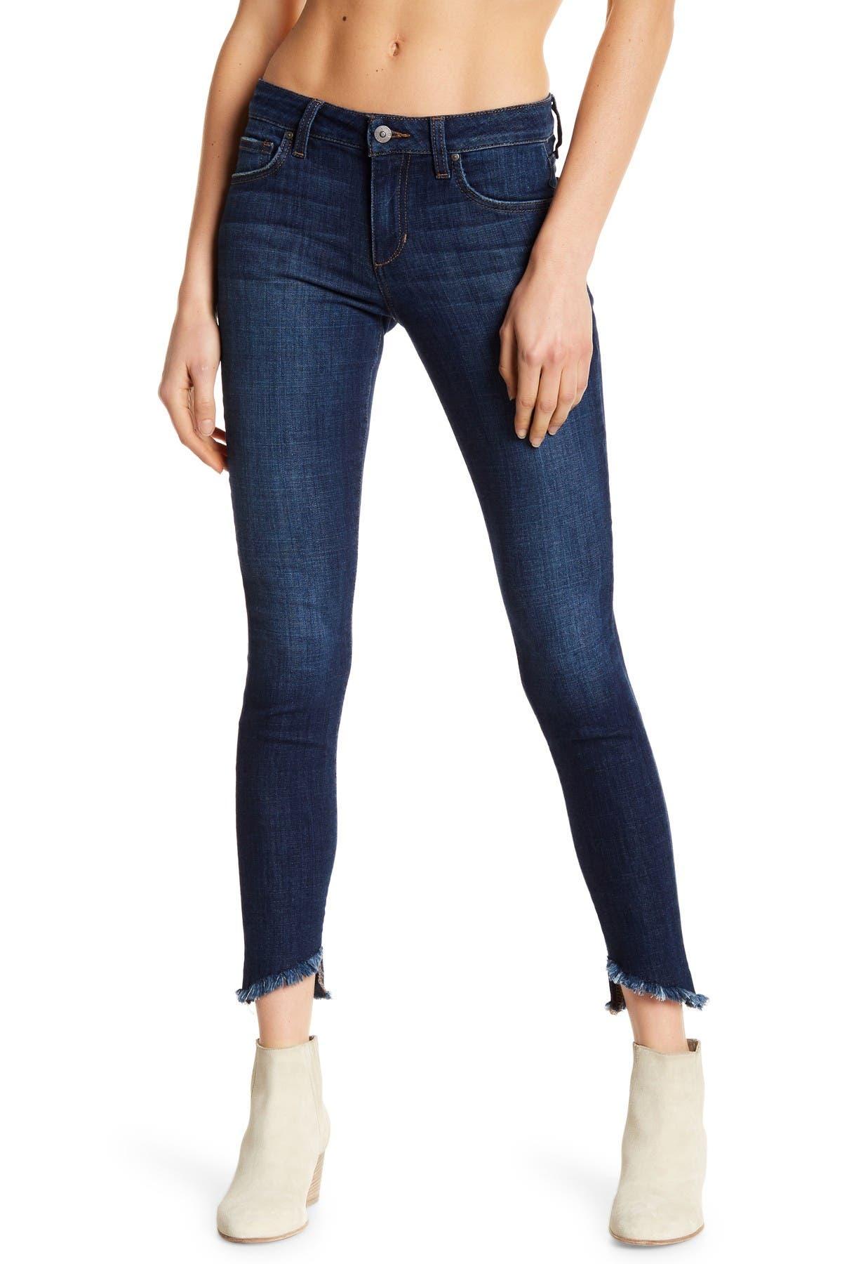 Image of Joe's Jeans Blondie Frayed Slant Hem Jeans