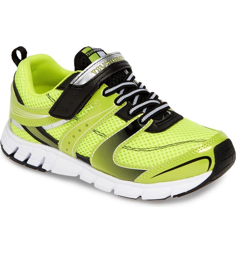 TSUKIHOSHI Velocity Washable Sneaker, Main, color, LIME/ BLACK