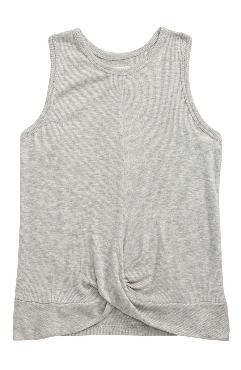 TUCKER + TATE Crossover Ribbed Tank, Main, color, GREY ASH HEATHER