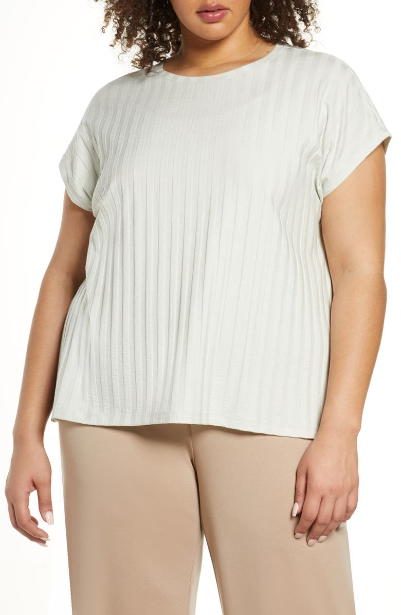 EILEEN FISHER Rib Knit Top, Main, color, 371
