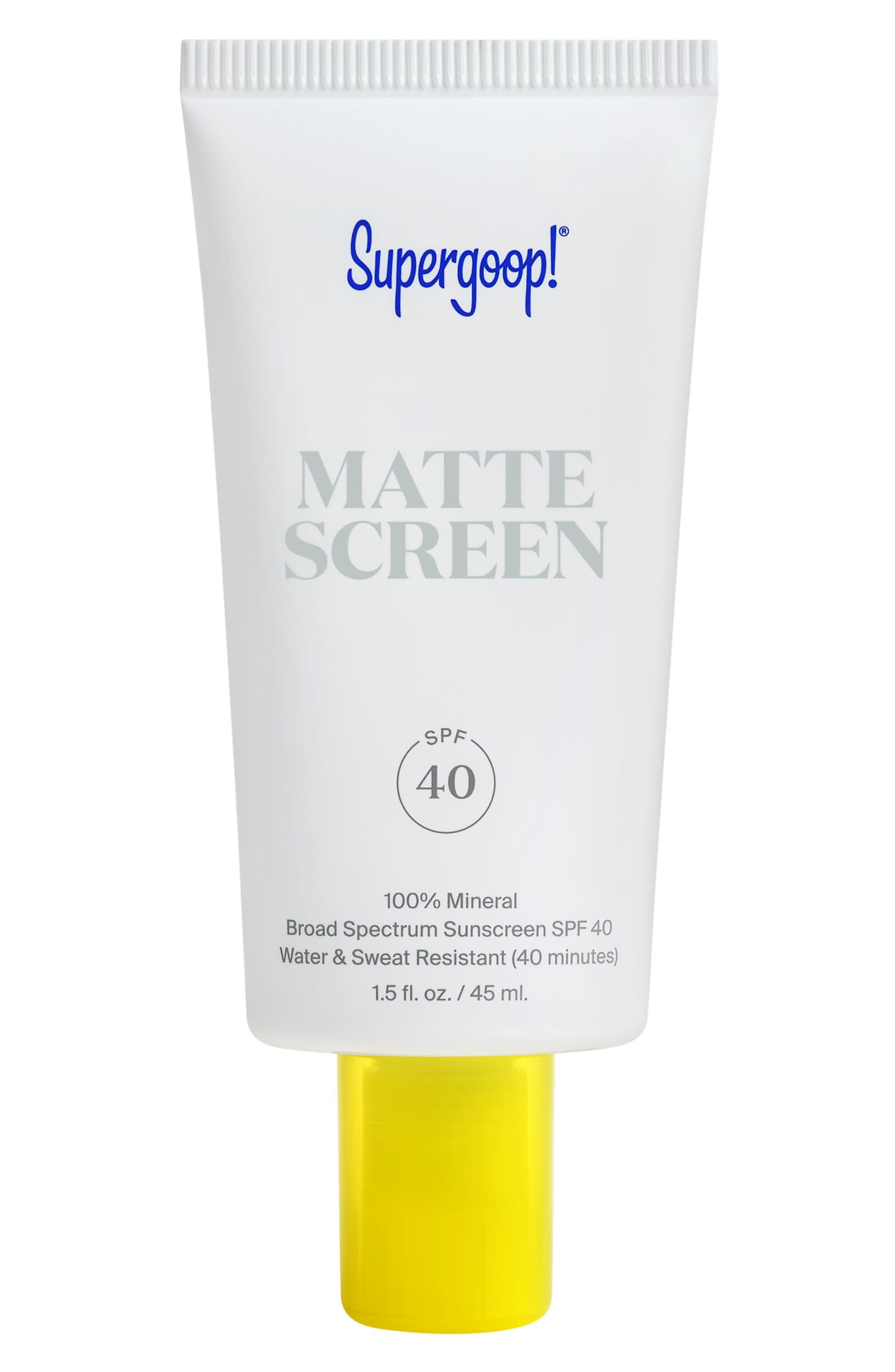 Supergoop! Smooth & Poreless 100% Mineral Matte Screen Sunscreen SPF 40 | Nordstrom