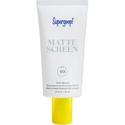 Supergoop! Smooth & Poreless 100% Mineral Matte Screen Sunscreen Spf 40 oz