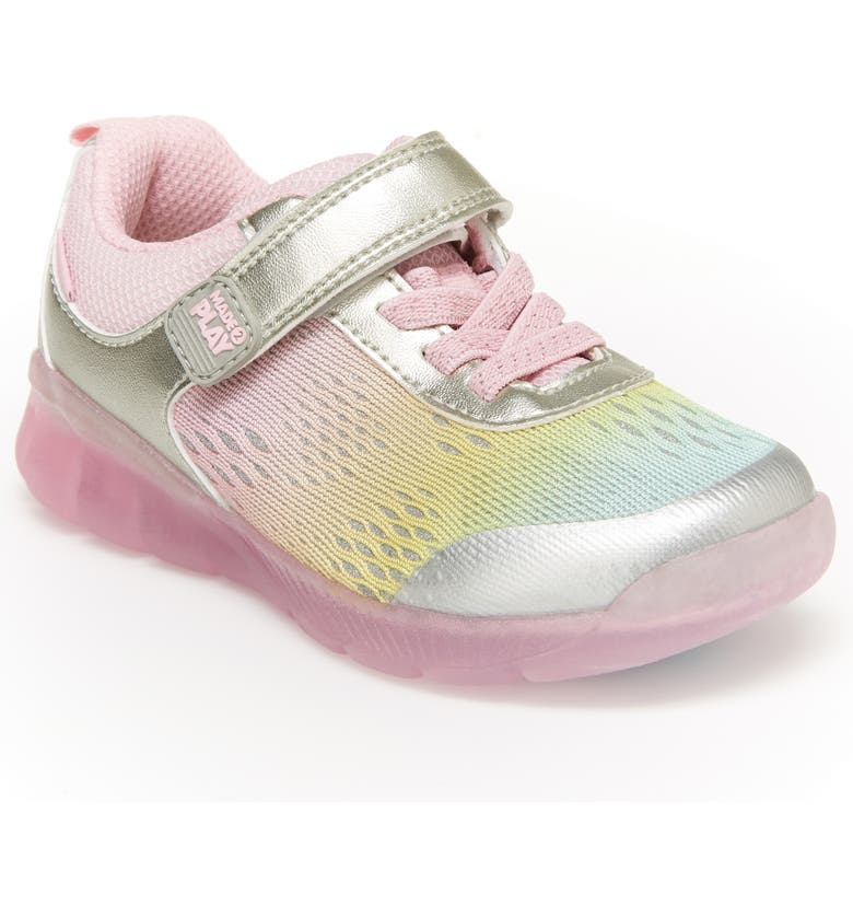 STRIDE RITE M2P Lighted Neo Sneaker, Main, color, RAINBOW MULTI
