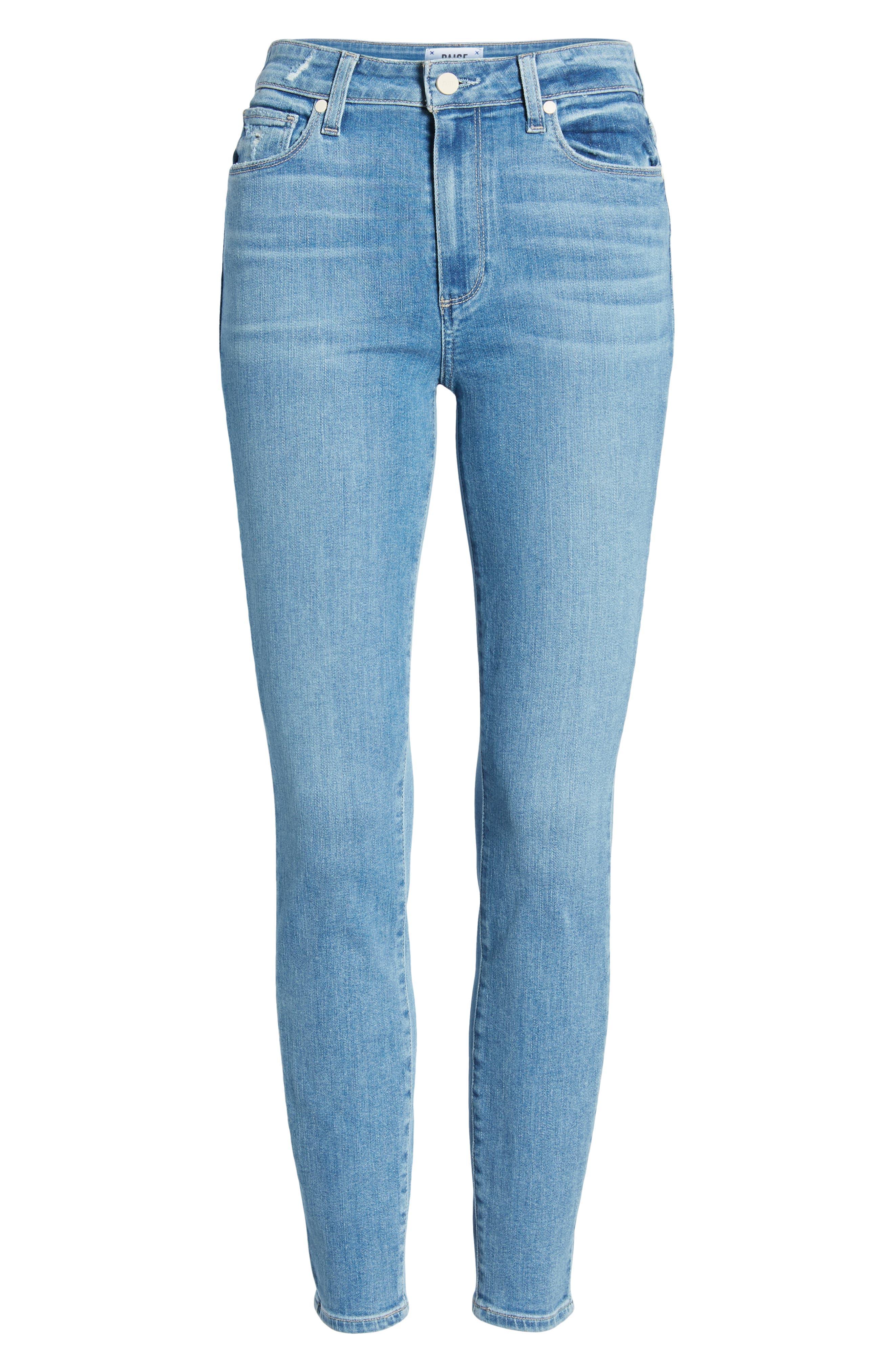 ,                             Transcend Vintage - Hoxton High Waist Ankle Skinny Jeans,                             Alternate thumbnail 7, color,                             400