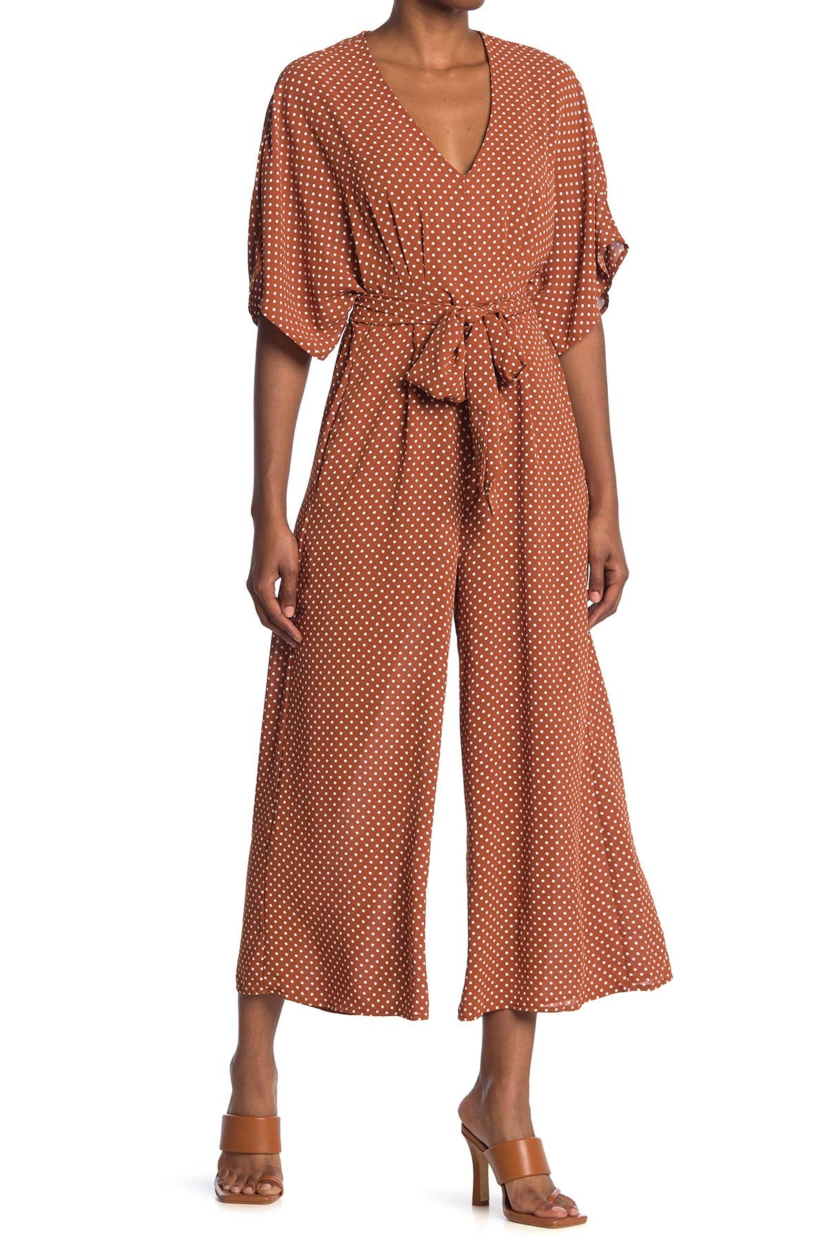 Image of Maisie Catania Polka Dot Wide Leg Jumpsuit