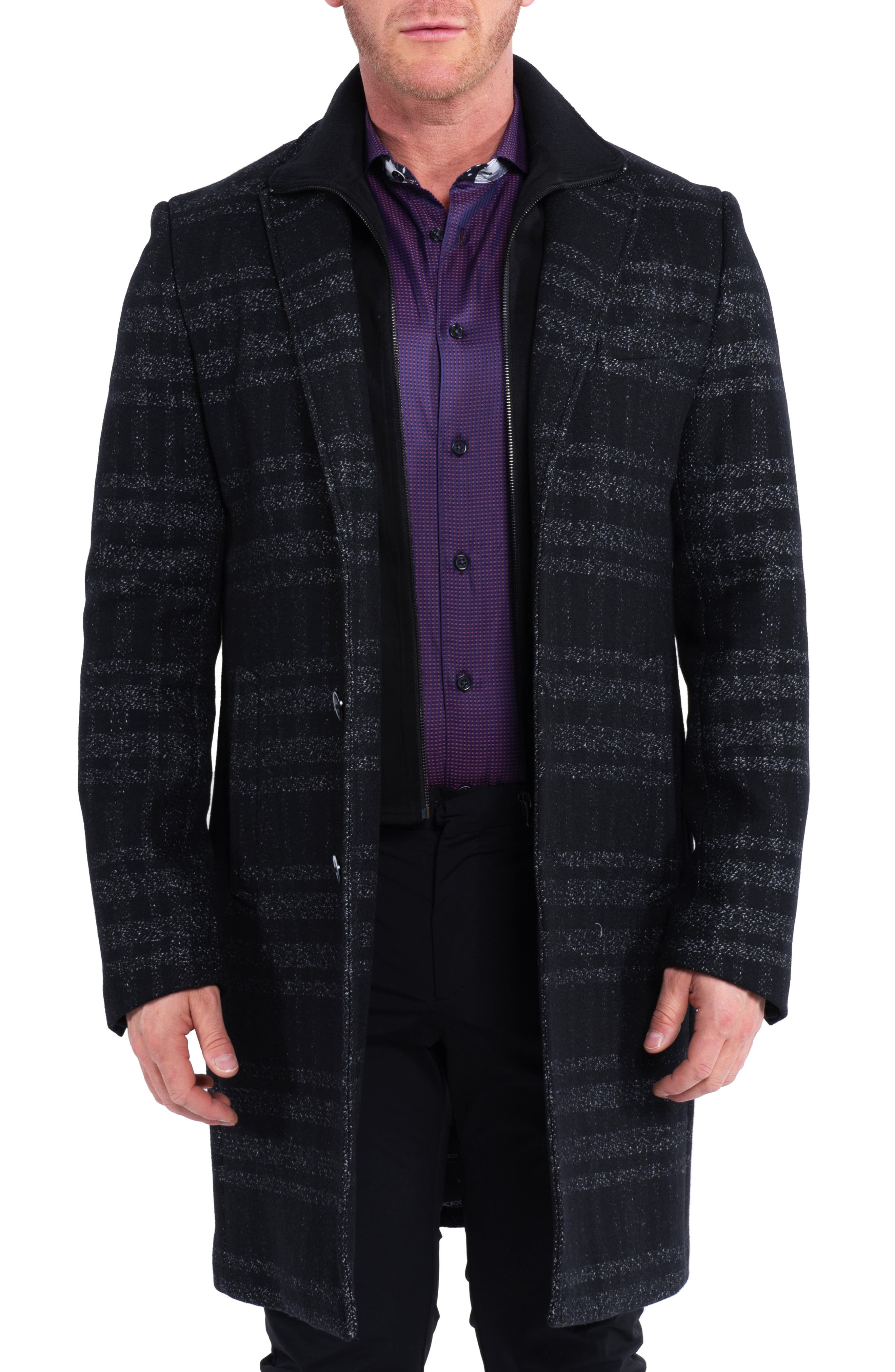 Captainplaid Wool Overcoat