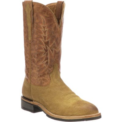 Lucchese Rudy Cowboy Boot - Brown