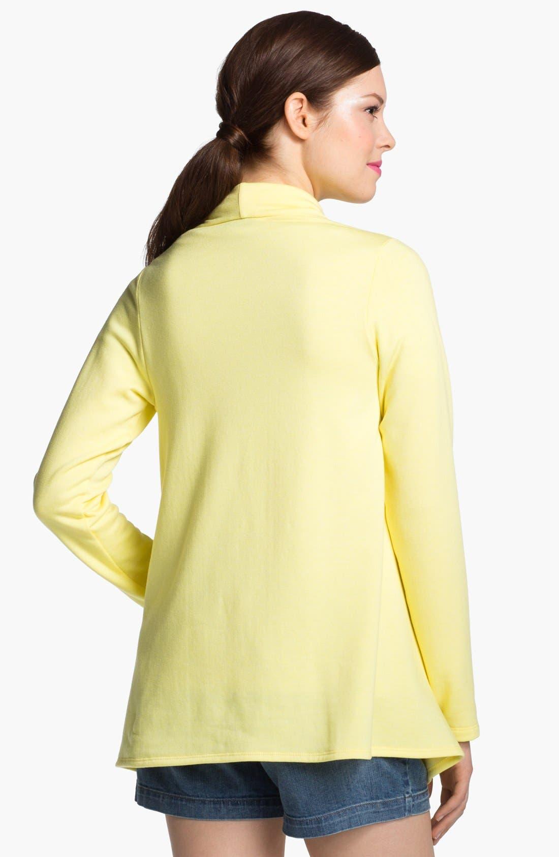 ,                             One-Button Fleece Wrap Cardigan,                             Alternate thumbnail 223, color,                             762