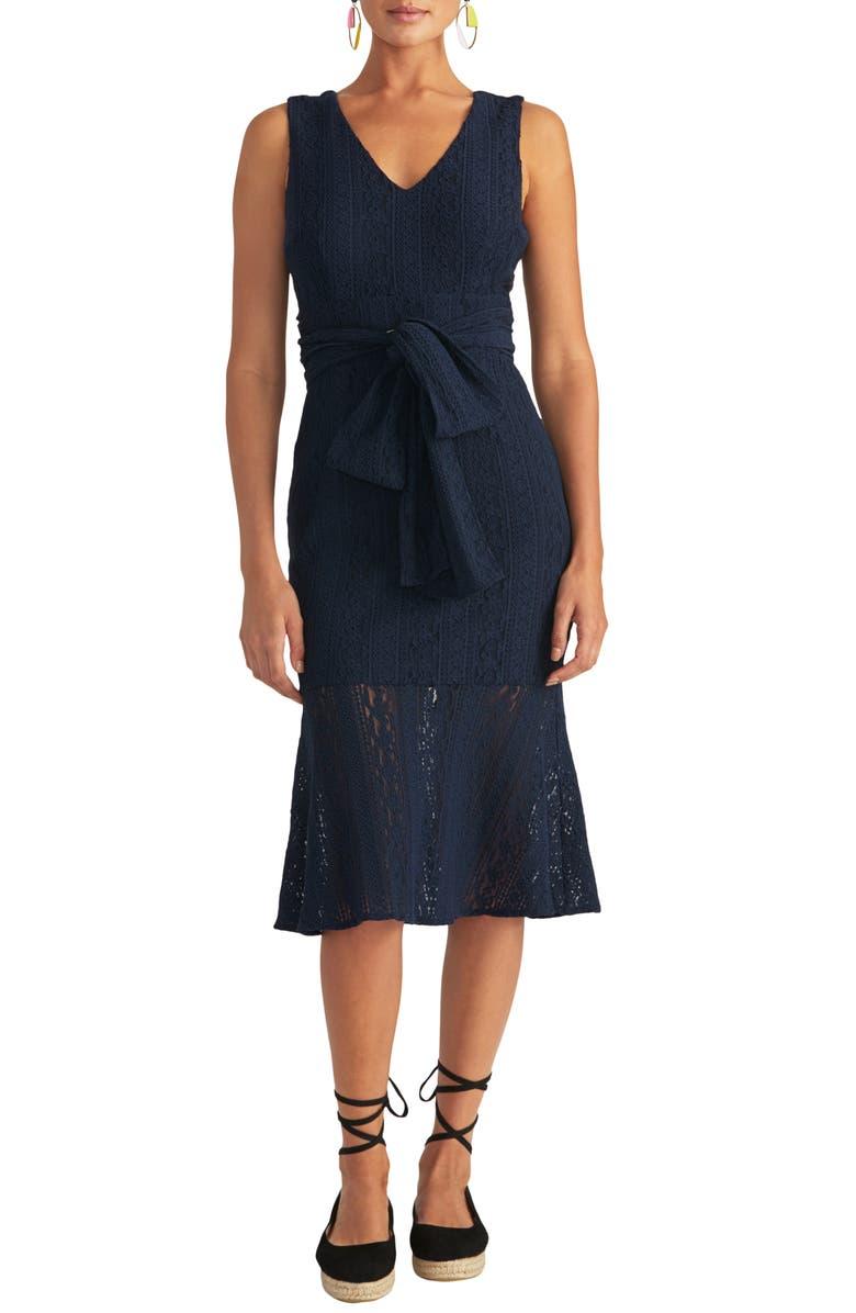 RACHEL RACHEL ROY Lace Sheath Dress, Main, color, TRUE NAVY