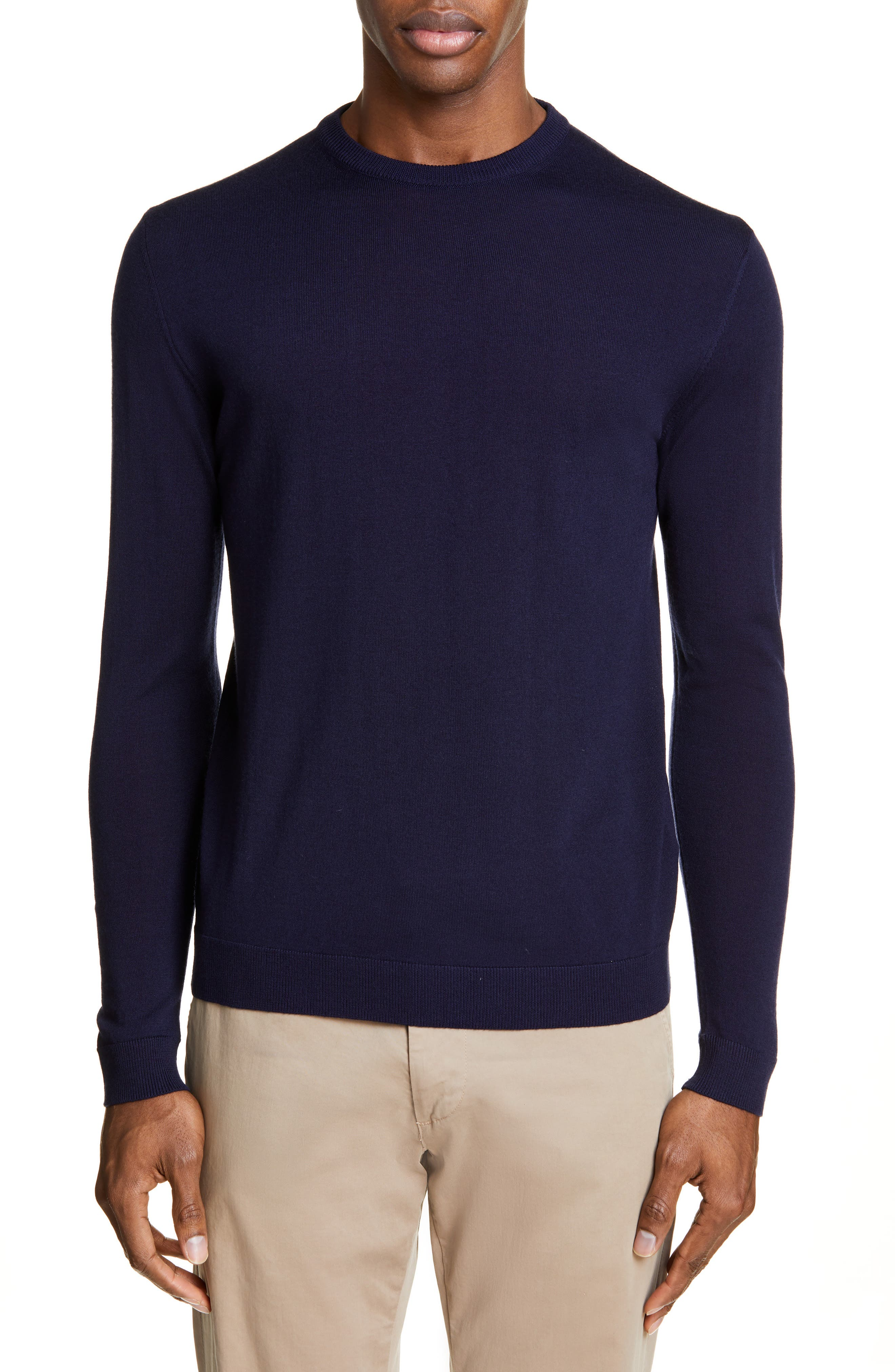 Norse Projects Sigfred Merino Wool Sweater, Blue