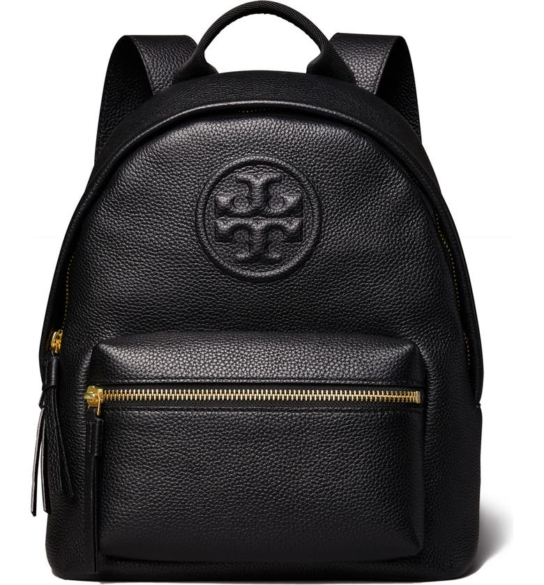 TORY BURCH Small Bombe Leather Backpack, Main, color, 001