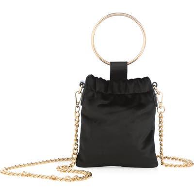 Shiraleah Ring Top Handle Velvet Bag - Black